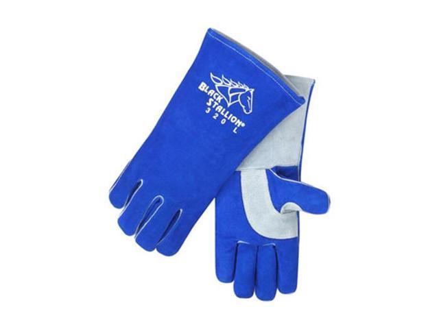 Revco Black Stallion 320 CushionCore Split Cowhide Stick Welding Gloves, Small