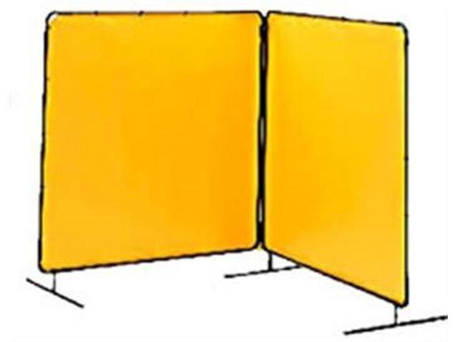 Tillman 6012066 6'X6' 14 mil. 2 Panel Yellow Vinyl Welding Curtain with Frame