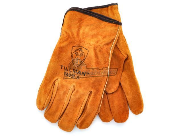 Tillman 1405 Brown Shoulder Split Cowhide Drivers Gloves, Large  Pkg. 12