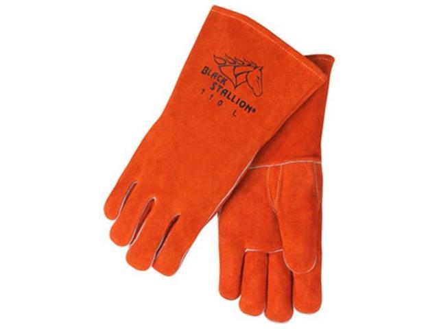 Revco Black Stallion 110 Standard Split Cowhide Stick Welding Gloves, Large