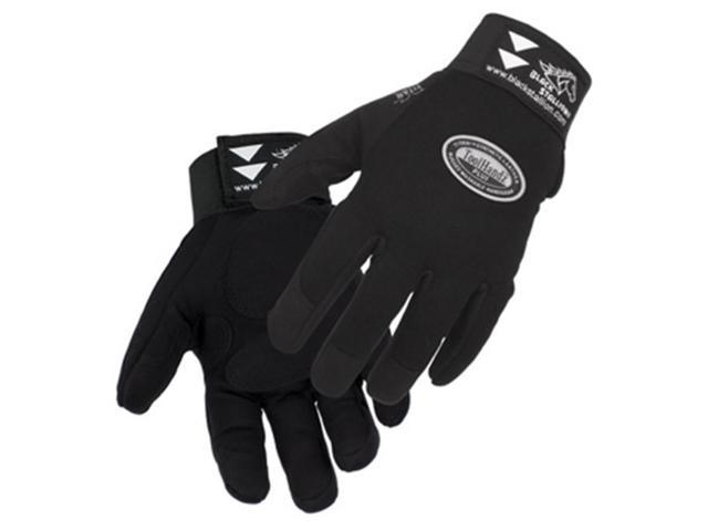 Revco ToolHandz 99PLUS-BLK Syn. Leather/Spandex Mechanic's Gloves, Large