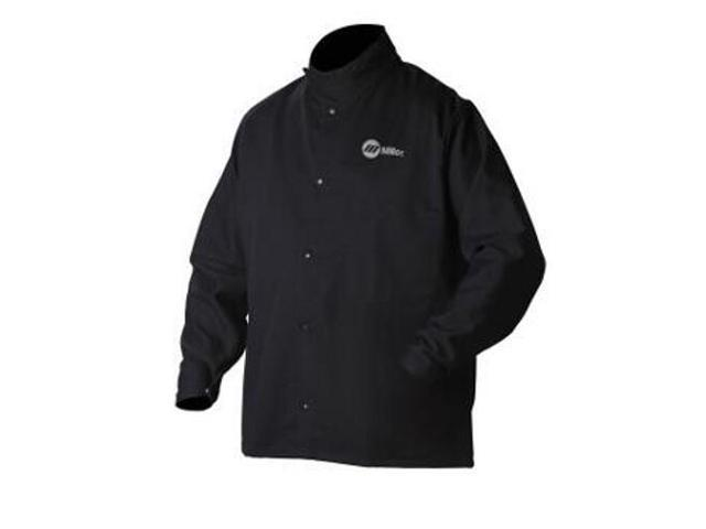 MILLER ELECTRIC 244758 Welding Jacket, Navy, Cotton/Nylon, 5XL