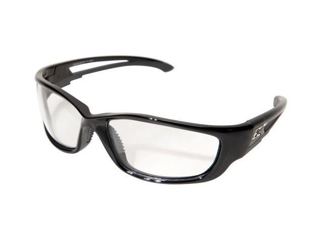Edge Eyewear SKXL-111  Kazbek 'FatHead' Safety Glasses Black/Clear Lens