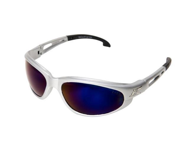 Edge Eyewear SW128 Dakura - Silver / Blue Mirror Lens