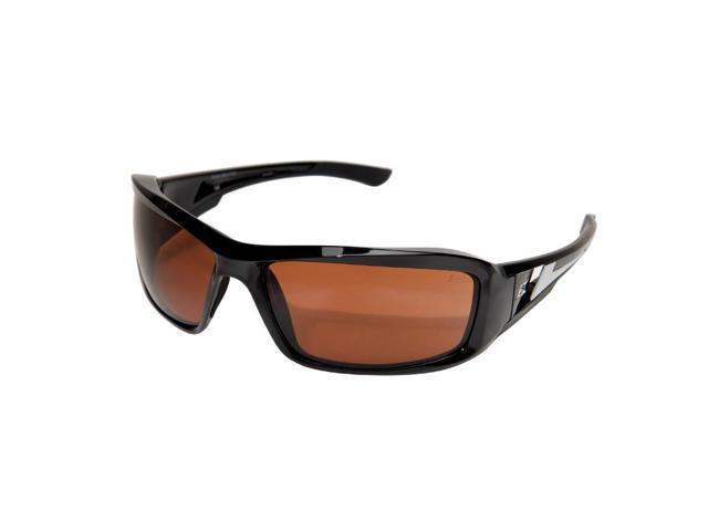 Edge Eyewear XB115  Brazeau Safety/Driving Glasses, Black/Copper Lens