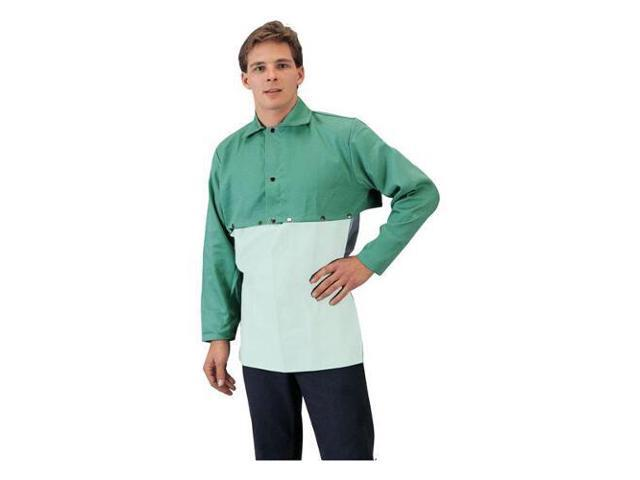 Tillman 6221WC 12 oz. Green Cotton Whipcord Cape Sleeve, 4X-Large