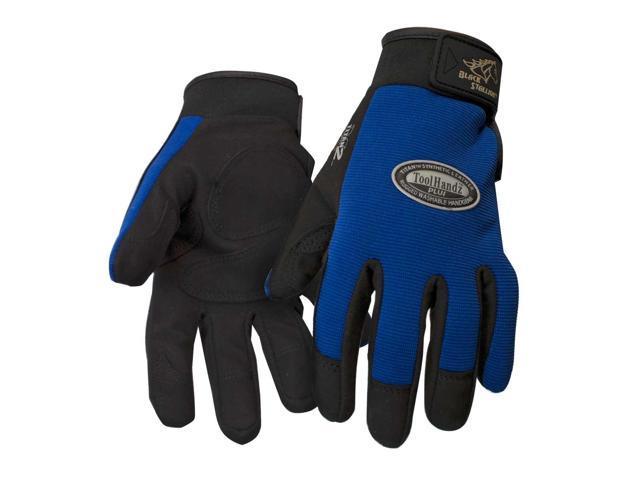 Revco ToolHandz 99PLUS-BLUE Syn. Leather/Spandex Mechanic's Gloves, Medium
