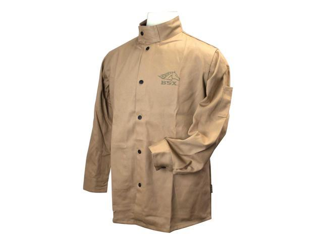 Black Stallion BSX BXTN9C Khaki Fire Resistant Cotton Welding Jacket, Small