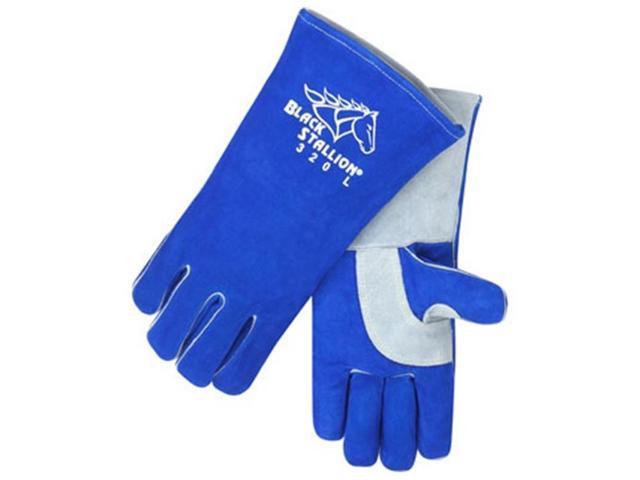 Revco Black Stallion 320 CushionCore Split Cowhide Stick Welding Gloves, Large