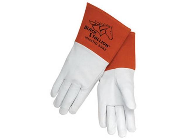 Revco Black Stallion 35KE Long Cuff Grain Kidskin TIG Welding Gloves, Medium