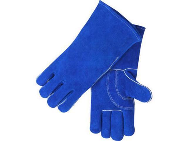 Revco Black Stallion 113 Blue Value Split Cowhide Stick Welding Gloves, Large