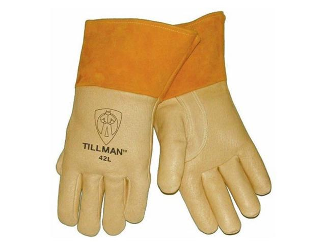Tillman 42 Top Grain Pigskin Foam Lined Thumb Strap MIG Welding Gloves, Small
