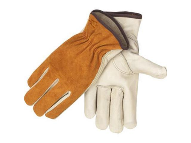 Black Stallion 97 Value Grain/Split Cowhide Driving Gloves, Medium