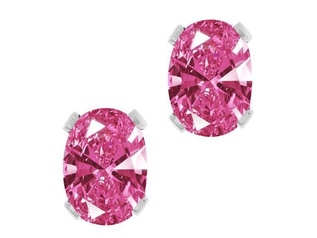 1.52 Ct Pink 925 Sterling Silver Earrings Made With Swarovski Zirconia
