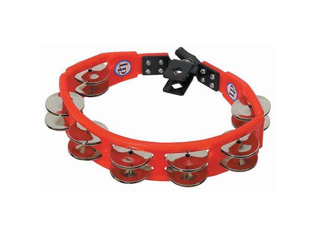 Latin Percussion LP161 Cyclops Drum Set Mountable Tambourine Steel Jingles Red