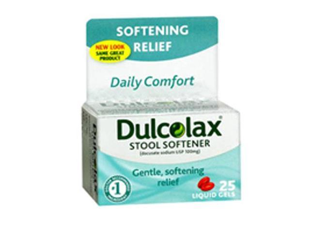 Dulcolax Stool Softener Liquid Gels 25 Ct Newegg Com