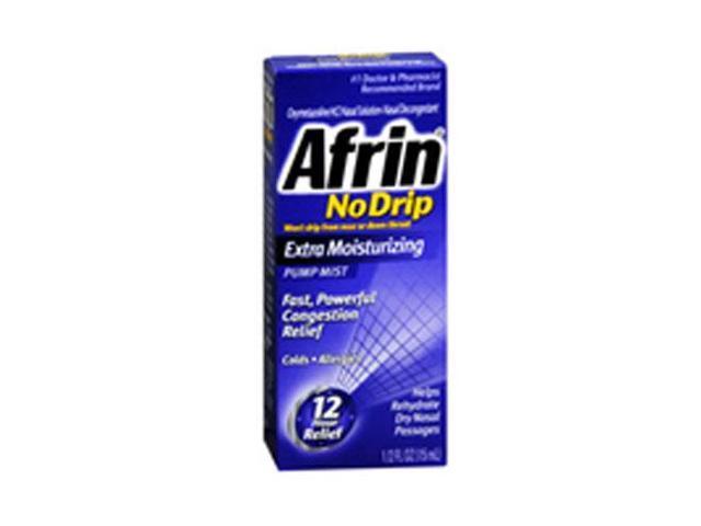 Afrin No Drip 12 Hour Pump Mist, Extra Moisturizing, .5-Ounce Pumps ...