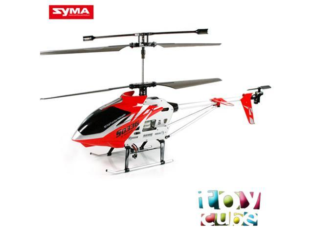Syma S033G Gyro Metal Frame 3.5 CH XL RC Helicopter with LED lights-Red,Yellow