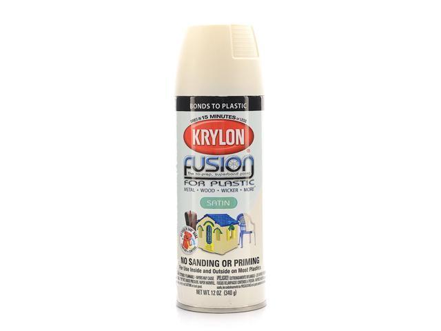 krylon fusion spray paint for plastic dover white satin. Black Bedroom Furniture Sets. Home Design Ideas