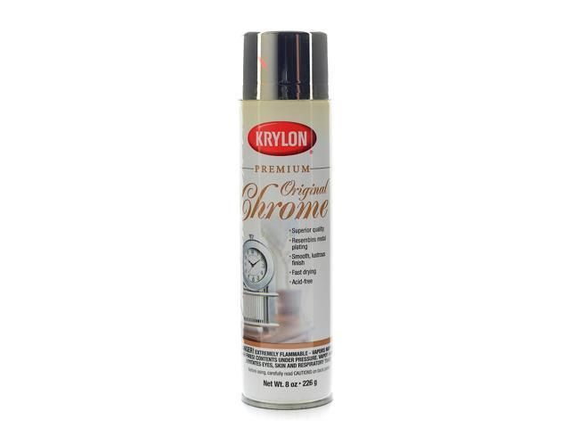 krylon premium metallic spray paint original chrome. Black Bedroom Furniture Sets. Home Design Ideas