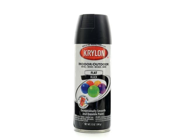 krylon indoor outdoor spray paint flat black. Black Bedroom Furniture Sets. Home Design Ideas