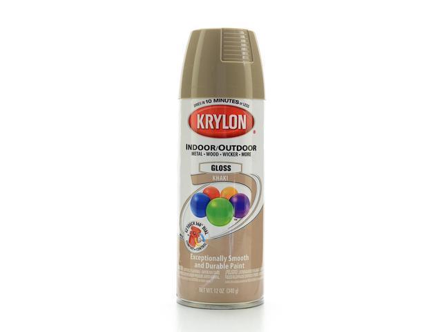 Krylon indoor outdoor spray paint gloss khaki Outdoor spray paint
