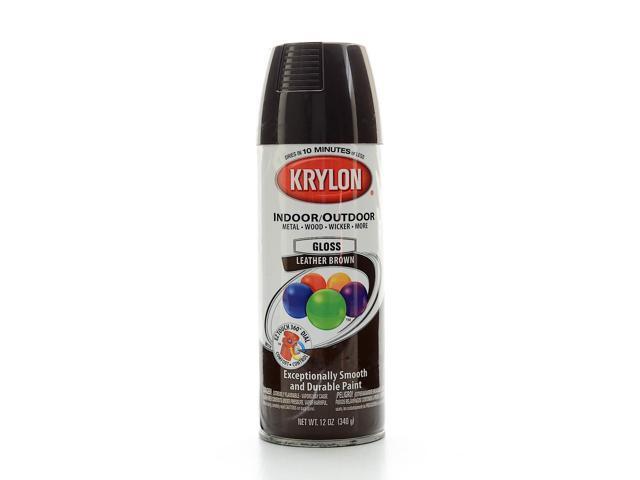 krylon indoor outdoor spray paint gloss leather brown. Black Bedroom Furniture Sets. Home Design Ideas