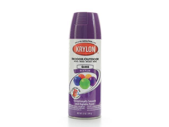 krylon indoor outdoor spray paint gloss rich plum. Black Bedroom Furniture Sets. Home Design Ideas