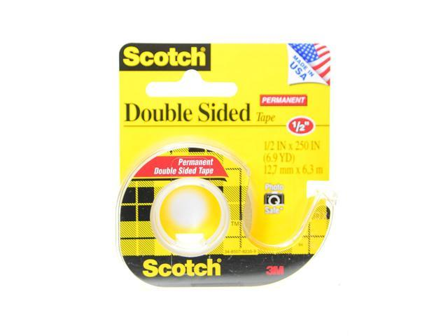 3m permanent double sided tape 1 2 in x 250 in roll with dispenser 136. Black Bedroom Furniture Sets. Home Design Ideas
