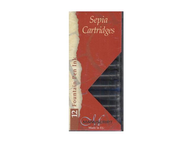 Manuscript Calligraphy Ink Cartridges Sepia Pack Of 12