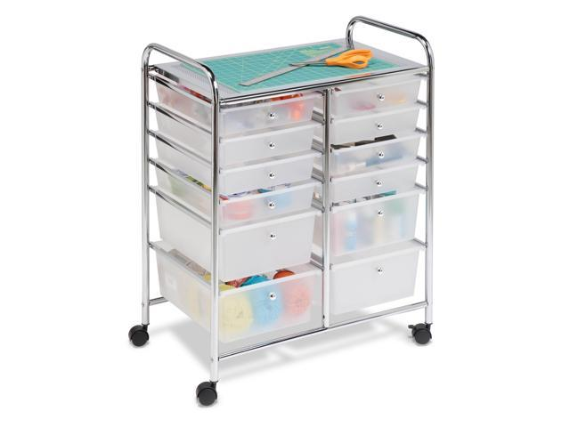 Honey Can Do 12-Drawer Studio Organizer Cart - Chrome