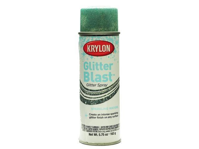krylon glitter blast spray paints sparkling waters 5 3 4 oz newegg. Black Bedroom Furniture Sets. Home Design Ideas