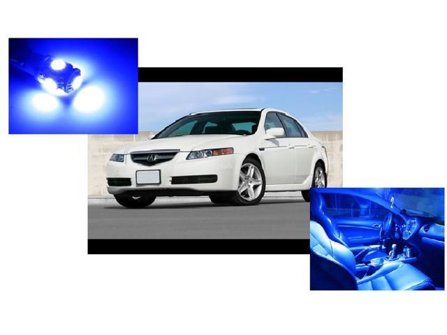 Acura Tl 2004 2008 Blue Interior Led Package 7 Pieces