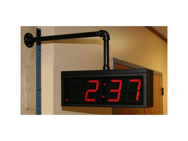 Dual Mount for Time Machines 4 inch by 4 digit clocks (TM440 and TM442 only).  The frame is black powder coated steel.  (Mount does not include clock - buy thoes separately)
