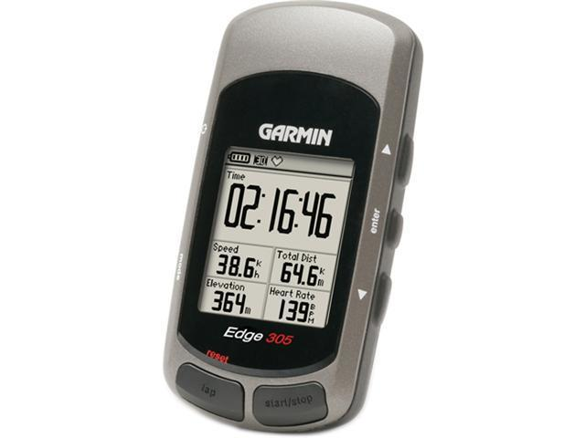 REFURBISHED Garmin Edge 305 Waterproof Personal Trainer GPS for Cyclists w/ HRM & Speed / Cadence Sensor 010-00447-30
