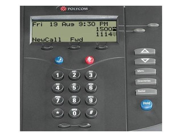 Polycom SoundPoint IP 301 Corded Voice Over IP Phone w/ 2-Line Operation