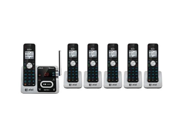 AT&T TL92371 + (3) TL90071 6 Handset Cordless Phone Message Waiting Indicator