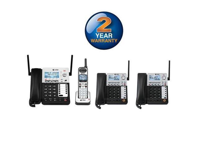 AT&T SB67138 + (2) SB67148 4 Handset Corded / Cordless Phone DECT 6.0 1.9GHz New