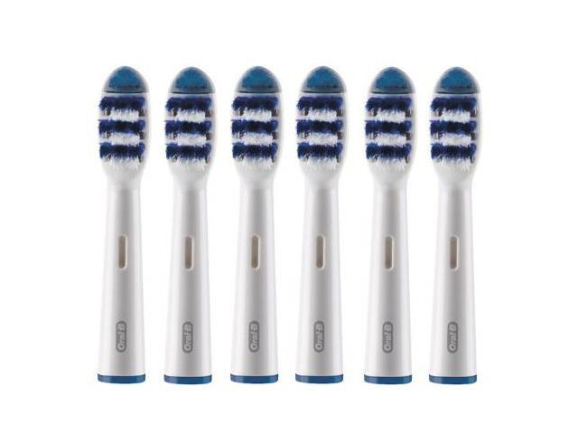 Oral-B EB30-6 6 Pack Replacement Brush Head Removes Up-to 4X More Plaque New