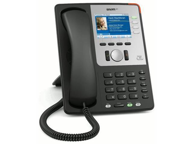 SNOM SNO-821B 12-Line Operation Corded VoIP Phone W/ 5-Way Conferencing New