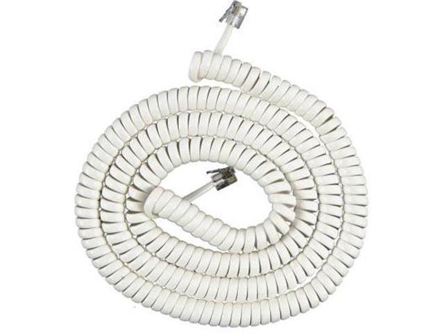 AT&T 607 7 Ft Telephone White Coil Cord