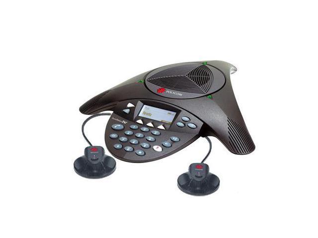 Polycom 2200-07800-160 w/ EX Mics SoundStation2W Expandable DECT 6.0 Conference Phone