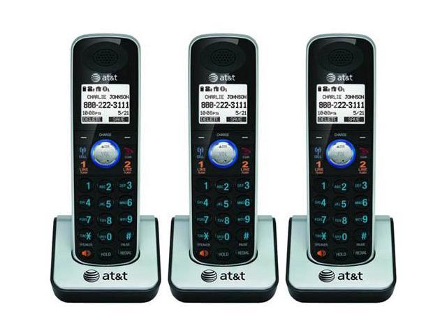AT&T TL86009 3 Pack Handset / Charger 2 Line Large Backlit LCD Display