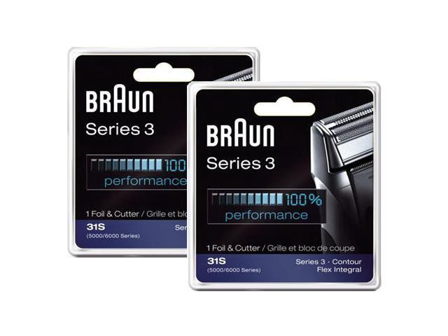 Braun 31S (Silver) Replacement Foil & Cutter For Men's Shaver 2 Pack New