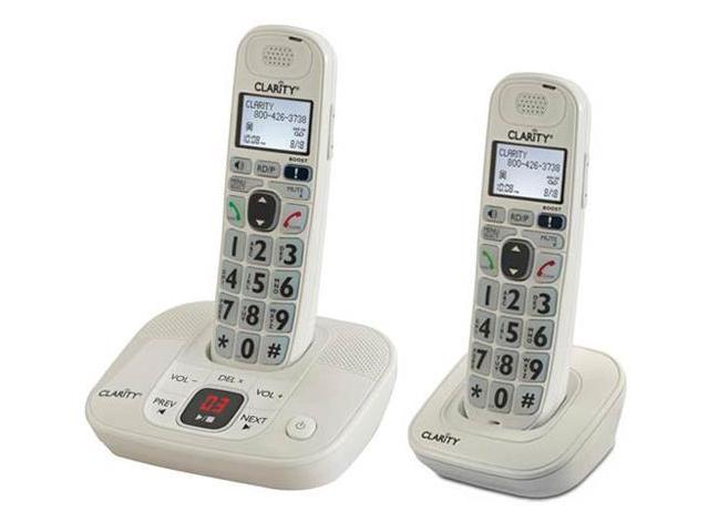 Clarity D712 + (1) D702HS D712 Amplified Cordless Big Button Phone w/Answering Machine