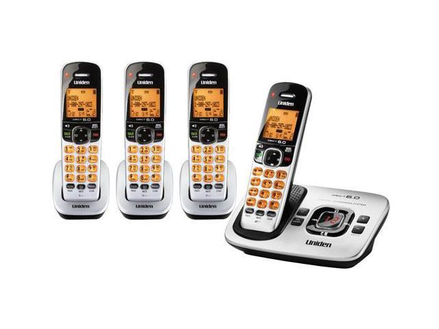 Uniden D1780-4 DECT 6.0 Cordless Phone w/ 3 Extra Handsets