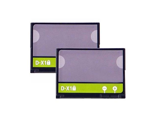 Replacement Battery For Blackberry D-X1 (2 Pack)