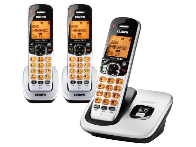 Uniden D1760-3 DECT 6.0 Cordless Phone w/ 2 Extra Handsets