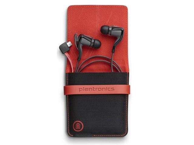 Plantronics Backbeat GO 2 Black with Charging Case Stereo Bluetooth Headset