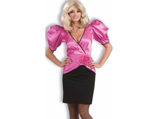 Puffy Sleeve 80s Dynasty Glam Dress Halloween Costume